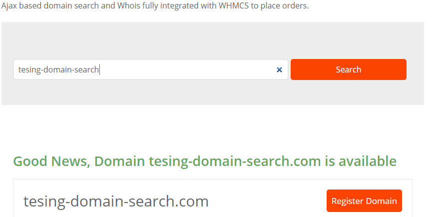 AJAX DOMAIN SEARCH IS NOW PART OF WHMPERSS BASE