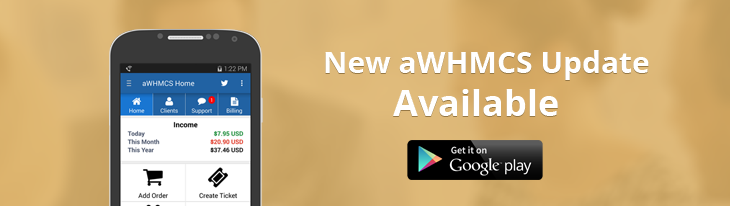 Andriod App for WHMCS Users